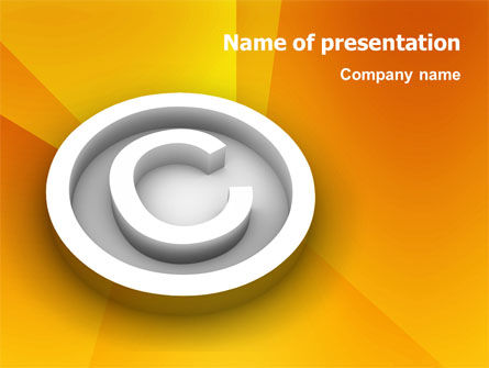 Legal: Copyright Sign PowerPoint Template #03021