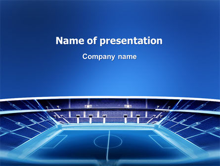 Stadium PowerPoint Template, 03022, Sports — PoweredTemplate.com