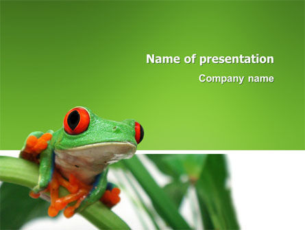 Animals and Pets: Toad PowerPoint Template #03024