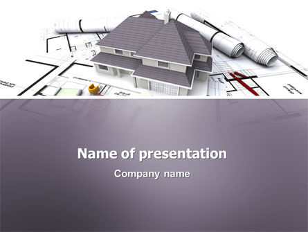 Townhouse Project PowerPoint Template, 03027, Construction — PoweredTemplate.com