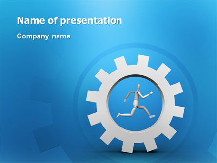 Running PowerPoint Template, 03028, Technology and Science — PoweredTemplate.com