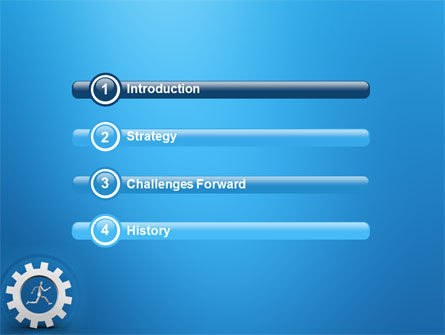Running PowerPoint Template, Slide 3, 03028, Technology and Science — PoweredTemplate.com