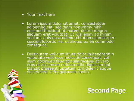 Books Stack In Hands PowerPoint Template Slide 2