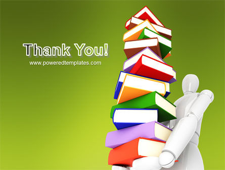 Books Stack In Hands PowerPoint Template Slide 20