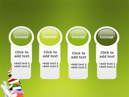 Books Stack In Hands PowerPoint Template Slide 5