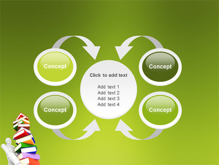 Books Stack In Hands PowerPoint Template Slide 6