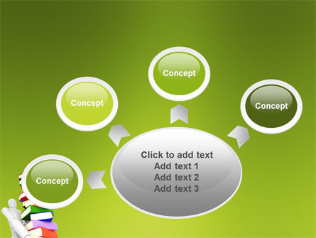 Books Stack In Hands PowerPoint Template Slide 7