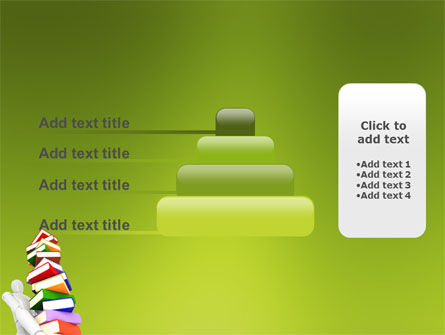 Books Stack In Hands PowerPoint Template Slide 8