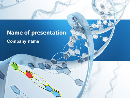 Technology and Science: Genes PowerPoint Template #03031