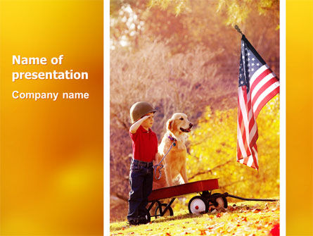 America: Patriotism PowerPoint Template #03032