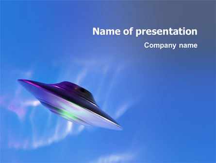Technology and Science: UFO PowerPoint Template #03034