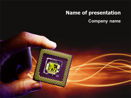 Technology and Science: Processor PowerPoint Template #03035