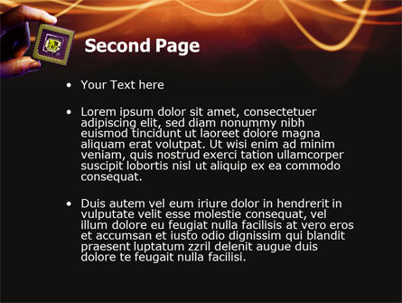 Processor PowerPoint Template, Slide 2, 03035, Technology and Science — PoweredTemplate.com