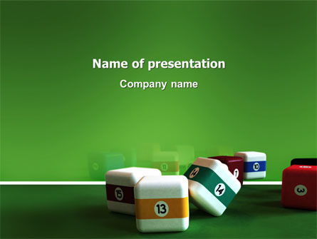 Business Concepts: Cubic Billiard Balls PowerPoint Template #03036