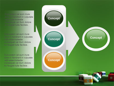Cubic Billiard Balls PowerPoint Template Slide 11