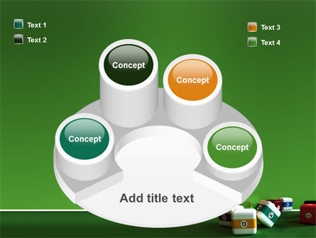 Cubic Billiard Balls PowerPoint Template Slide 12