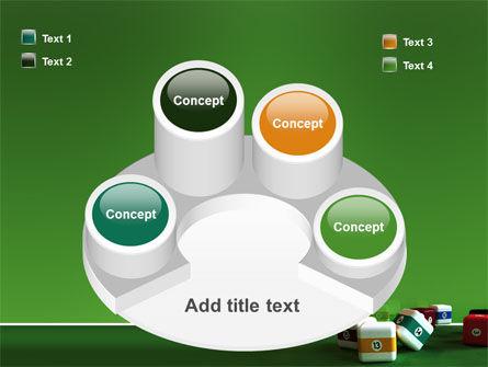 Cubic Billiard Balls PowerPoint Template Slide 12