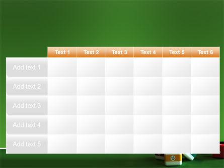 Cubic Billiard Balls PowerPoint Template Slide 15