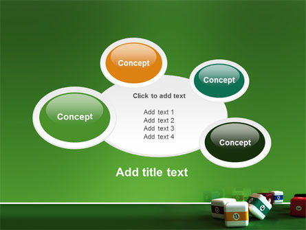 Cubic Billiard Balls PowerPoint Template Slide 16