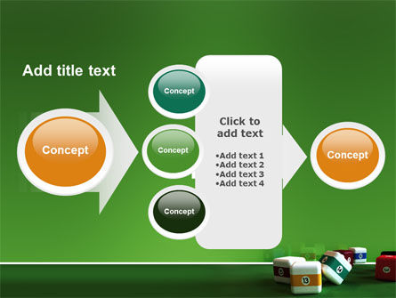 Cubic Billiard Balls PowerPoint Template Slide 17