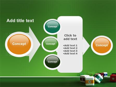 Cubic Billiard Balls PowerPoint Template Slide 17