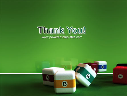 Cubic Billiard Balls PowerPoint Template Slide 20
