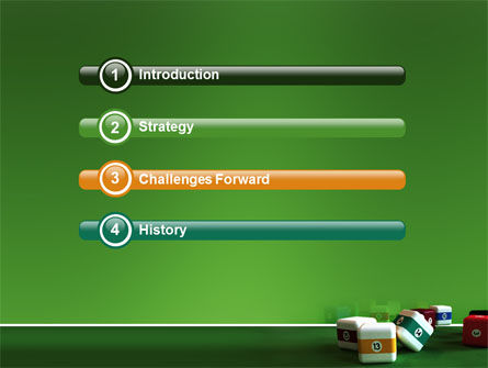 Cubic Billiard Balls PowerPoint Template, Slide 3, 03036, Business Concepts — PoweredTemplate.com
