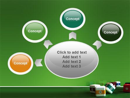 Cubic Billiard Balls PowerPoint Template Slide 7