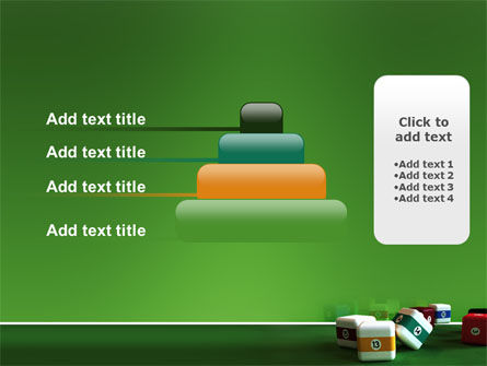 Cubic Billiard Balls PowerPoint Template Slide 8