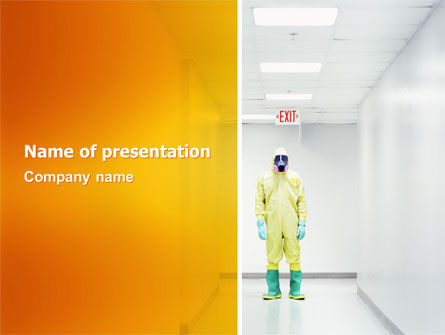 Nature & Environment: Chemical Contamination PowerPoint Template #03038