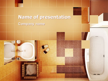 Bathroom PowerPoint Template, 03039, Careers/Industry — PoweredTemplate.com