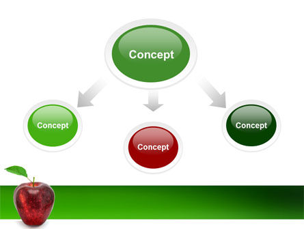 Red Apple PowerPoint Template, Slide 4, 03041, Agriculture — PoweredTemplate.com
