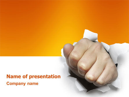 Business Concepts: Fist Of Force PowerPoint Template #03043