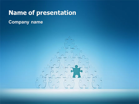 Consulting: Puzzle Pyramid PowerPoint Template #03044