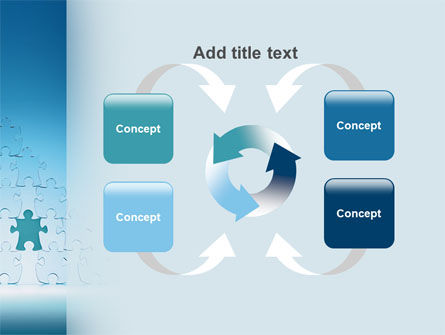 Puzzle Pyramid PowerPoint Template Slide 6