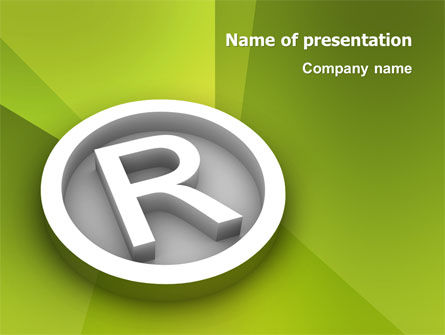 Legal: Registered Trademark PowerPoint Template #03046