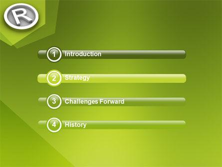 Registered Trademark PowerPoint Template, Slide 3, 03046, Legal — PoweredTemplate.com