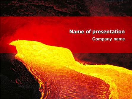 Volcano Lava PowerPoint Template, 03049, Nature & Environment — PoweredTemplate.com