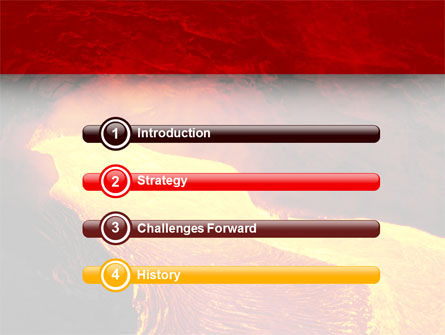 Volcano Lava PowerPoint Template, Slide 3, 03049, Nature & Environment — PoweredTemplate.com