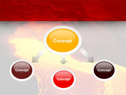 Volcano Lava PowerPoint Template, Slide 4, 03049, Nature & Environment — PoweredTemplate.com