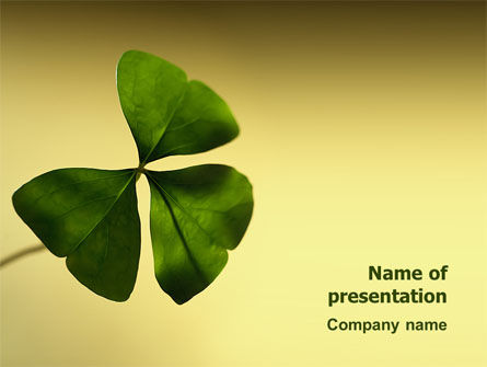 Shamrock PowerPoint Template, 03052, Nature & Environment — PoweredTemplate.com
