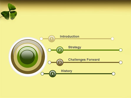 Shamrock PowerPoint Template, Slide 3, 03052, Nature & Environment — PoweredTemplate.com