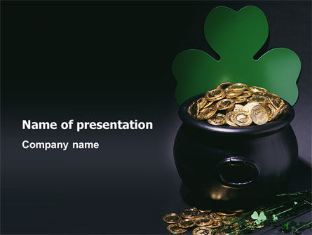 Holiday/Special Occasion: Pot of Gold PowerPoint Template #03053