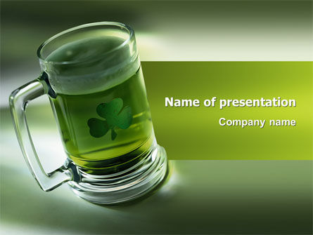 St. Patrick PowerPoint Template, 03054, Food & Beverage — PoweredTemplate.com