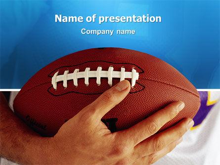 Sports: アメリカンフットボールボールとラグビーボール - PowerPointテンプレート #03055