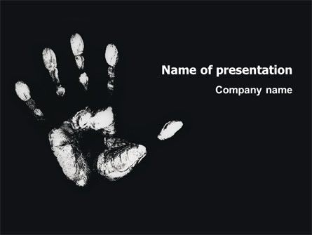 Religious/Spiritual: Hand Print PowerPoint Template #03057