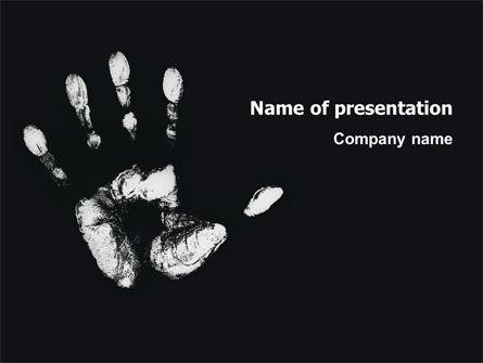 Hand Print PowerPoint Template, 03057, Religious/Spiritual — PoweredTemplate.com