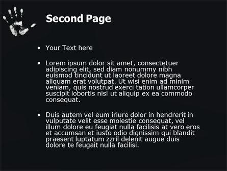 Hand Print PowerPoint Template, Slide 2, 03057, Religious/Spiritual — PoweredTemplate.com