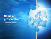 Global: ヨーロッパのパズル - PowerPointテンプレート #03058