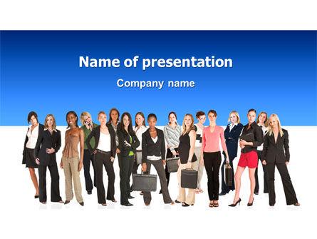 Women PowerPoint Template, 03059, People — PoweredTemplate.com